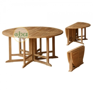 round folding table big
