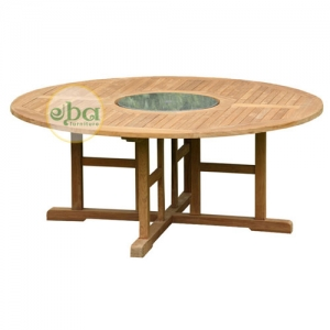 round table big with marble