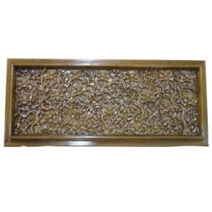 wooden relief carved