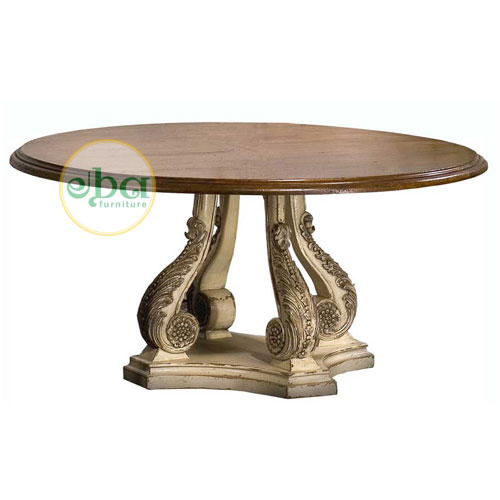 Big Carved Dining Table Indonesia Export Furniture Indonesian