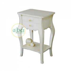 kelly white bedside table