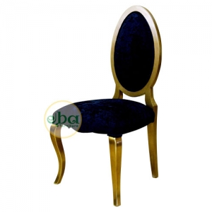 gold oval chair