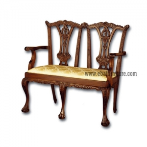 couple carved arms chair