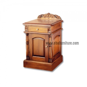 colonial carved bedside
