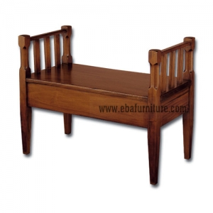colonial wooden bench