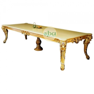 luxury gold dining table