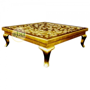 top carved coffee table