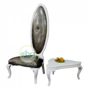oval back chair set