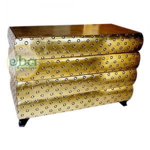 gold layers commode