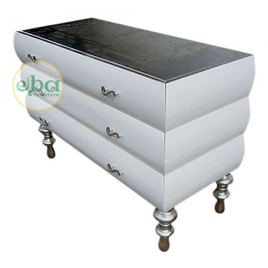 white silver commode