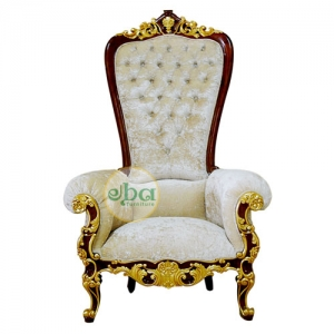 luxury carved throne small