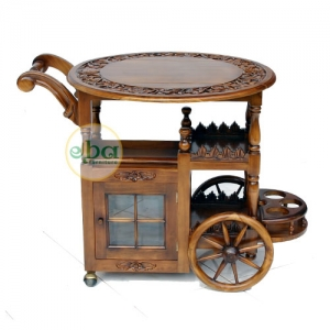 classic trolley with wheels