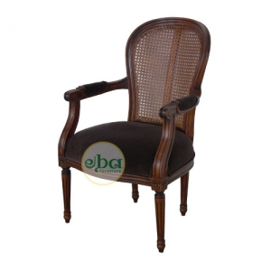 natural french rattan back