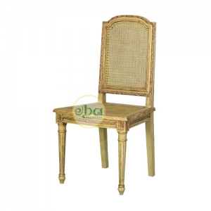 french carved rattan chair
