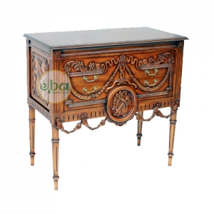 high carved commode