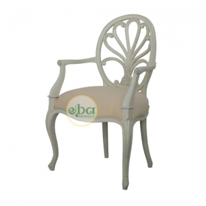 shells back arms chair