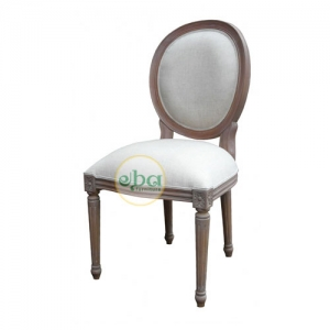 natural french oval chair