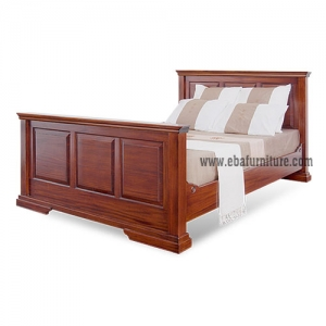 country wooden bed