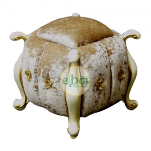 leafing upholstery stool