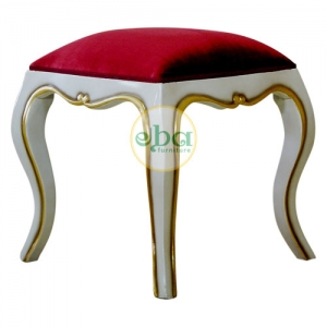 white gold small stool