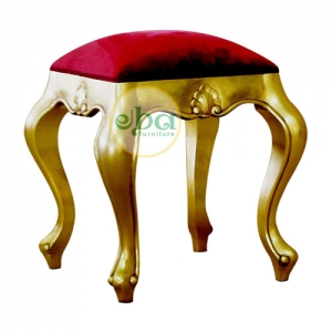 gold french stool