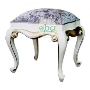 white carved small stool