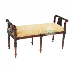 nalini carved double bench
