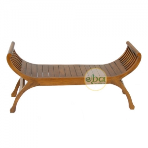 wooden boat double bench
