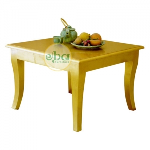square gold side table
