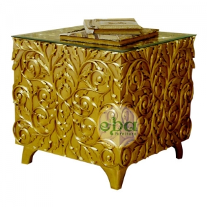 full carved side table