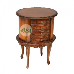 oval table 4 drawers