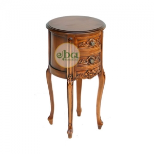 small french round table