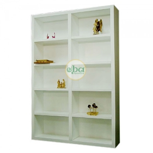 two layers open bookcase