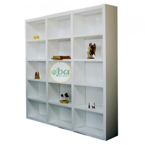 three layers open bookcase