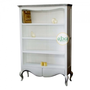 white french bookcase