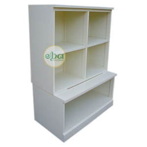white simple bookcase