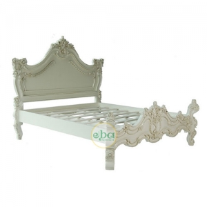 new rococco carved bed