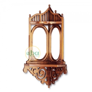 corner carved wall mirror