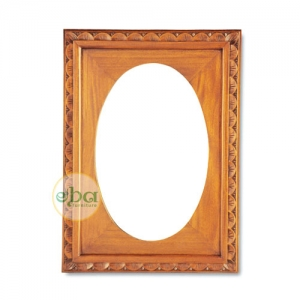 oval inside carved mirror