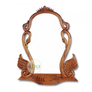 couple swans mirror