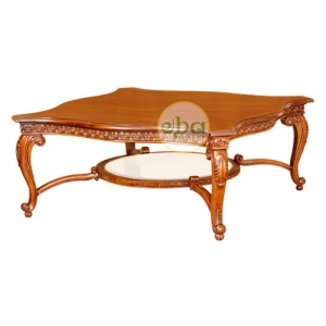 luxury carved coffee table