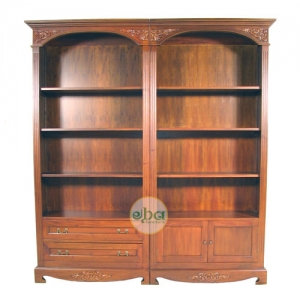 classical open bookcase 2in1