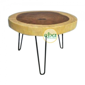 Round Table with Iron Legs