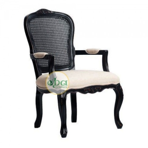Black Carved Arms Chair