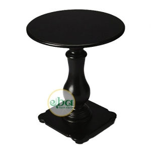 black side table round